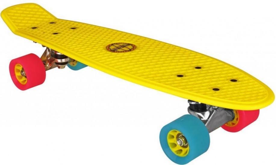 Nijdam Flipgrip Skateboard 22,5 Inch Geel