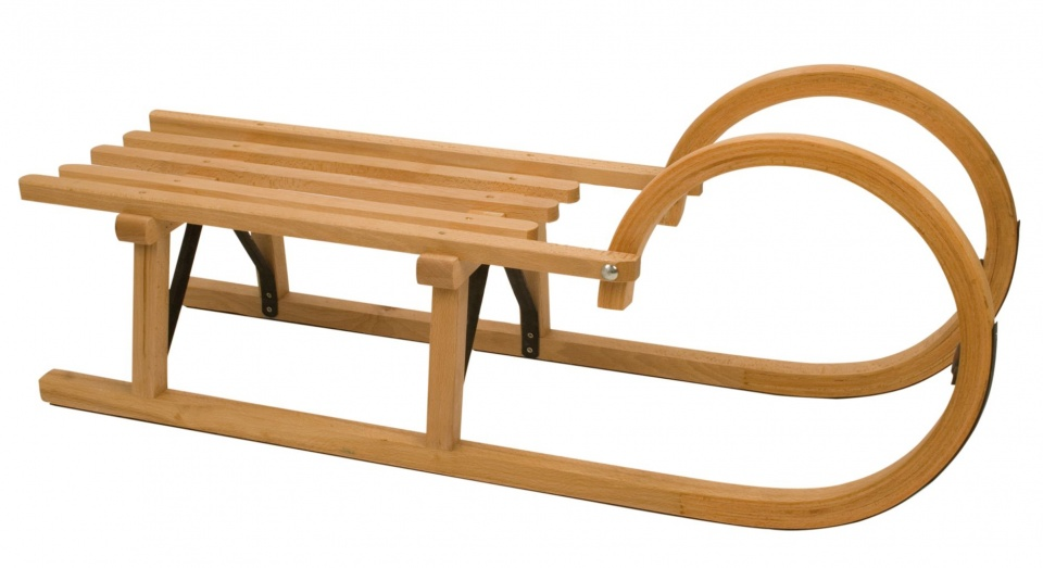 Nijdam Houten slee Rodel Wood 95 cm