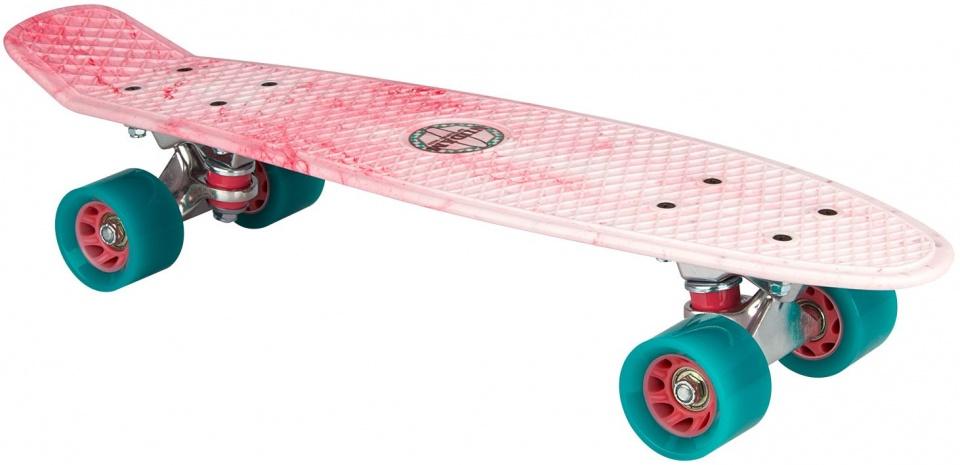 Nijdam skateboard kunststof lichtroze 57 x 15 cm