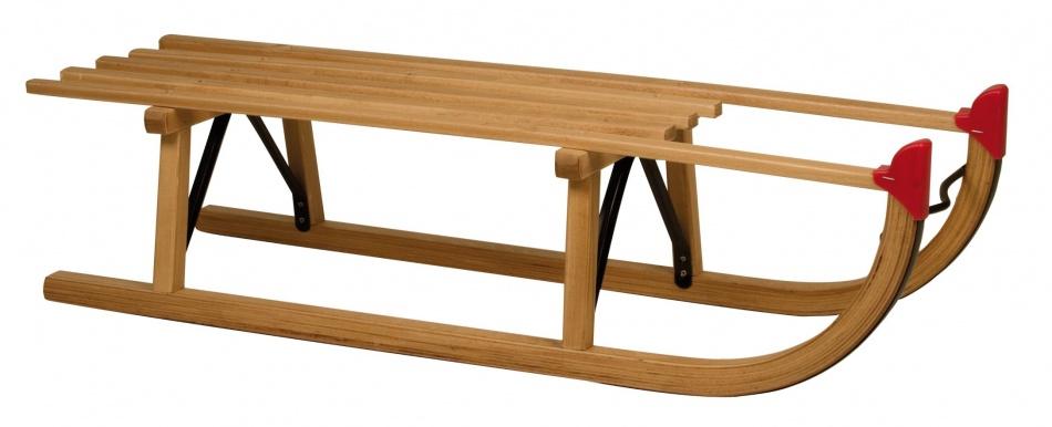 Nijdam Davos houten slee 100 cm bruin