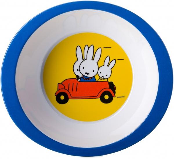 Rosti Mepal Nijntje Bord pap op reis 17 cm geel/wit/blauw