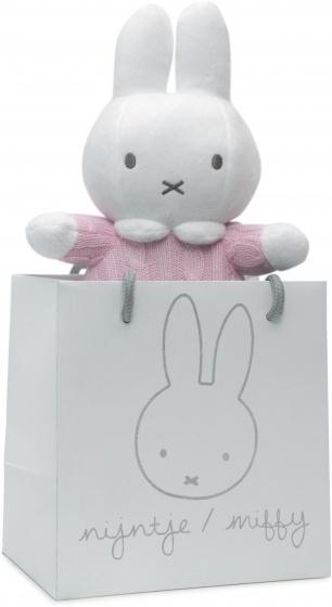Nijntje knuffel rammelaar in handtas roze 22 cm