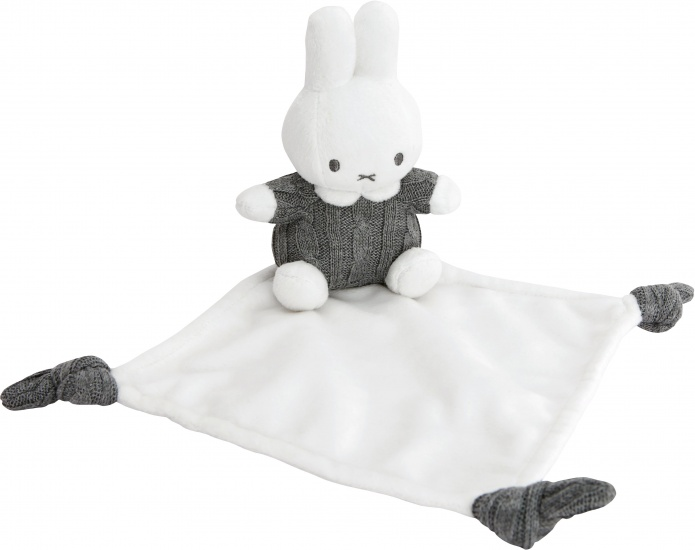 Nijntje Knuffeldoekje grijs/wit 22 x 15 cm