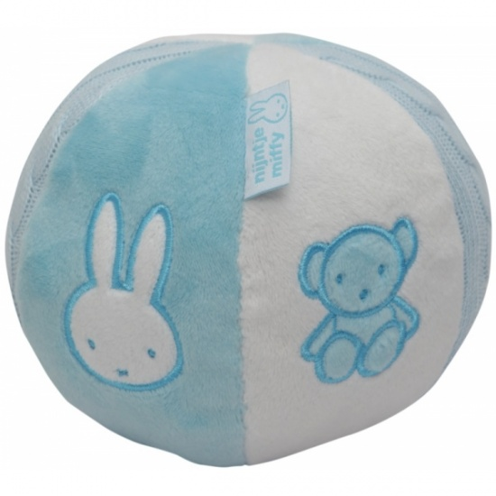 Nijntje rammelbal lichtblauw 13 cm