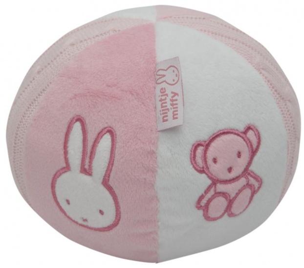 Nijntje rammelbal roze 13 cm