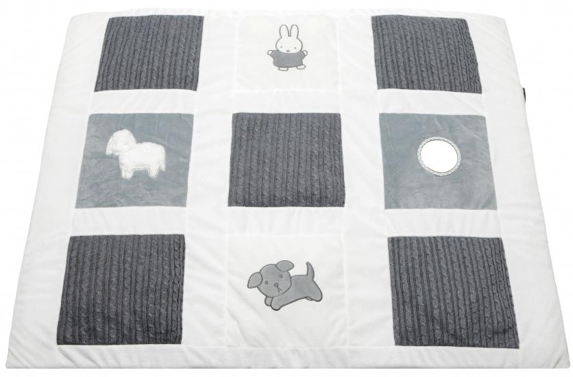 Nijntje Speelkleed gebreid grijs 100 x 85 cm