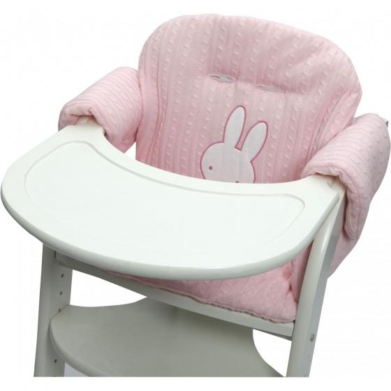 Nijntje stoelverkleiner gebreid roze