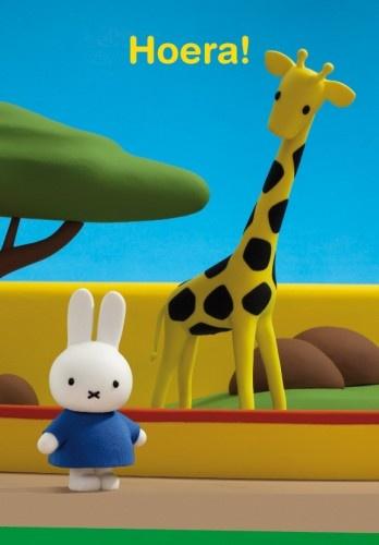 Nijntje Wenskaart Hoera! Giraffe