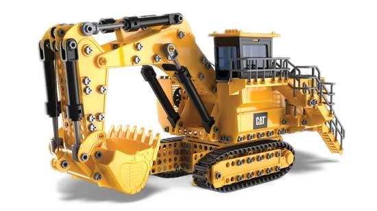 Nikko Caterpillar RC mijnbouw graafmachine 51 x 27 cm geel