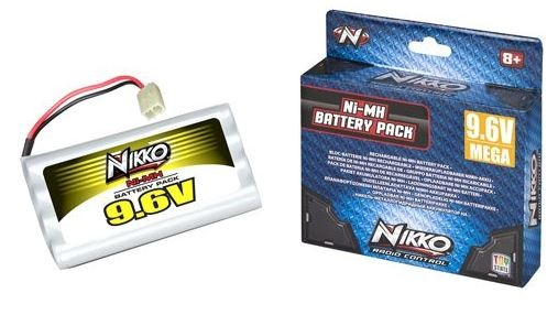 Nikko Mega Pack Ni MH 9.6V batterij
