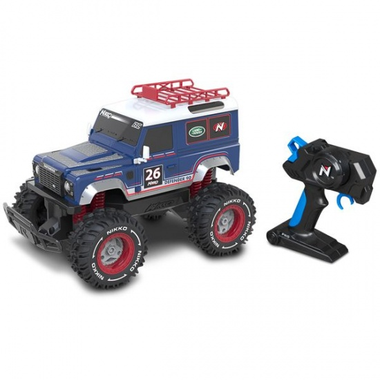 Nikko RC Land Rover Defender 1:16 paars