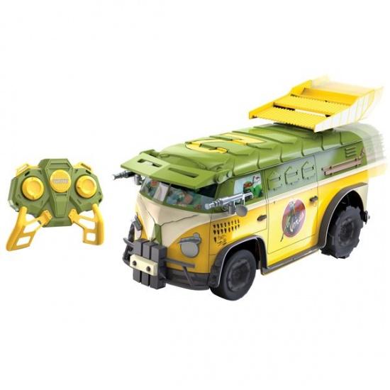 Nikko Teenage Mutant Ninja Turtles RC party bus groen
