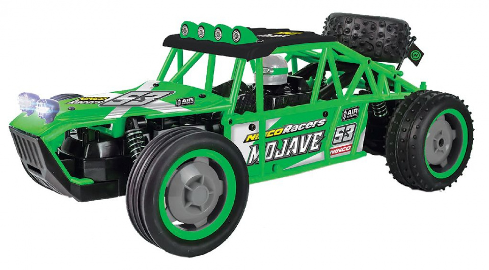 Ninco raceauto RC High Speed Buggy 1:10 rubber groen 2 delig