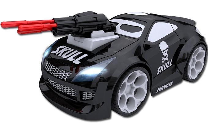 Ninco Racers Watch Car Skull 20 cm zwart