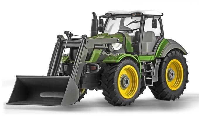 Ninco RC Tractor met shovel schaal 1:28 groen