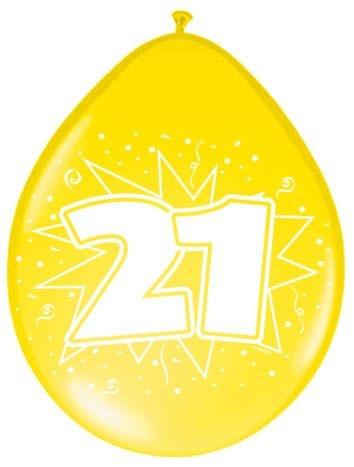 Amigo Ballonnen ster 30 cm: 21 jaar 8 stuks