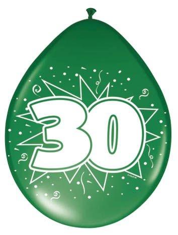 Amigo Ballonnen ster 30 cm: 30 jaar 8 stuks
