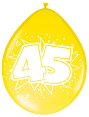 Amigo Ballonnen ster 30 cm: 45 jaar 8 stuks