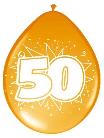 Amigo Ballonnen ster 30 cm: 50 jaar 8 stuks