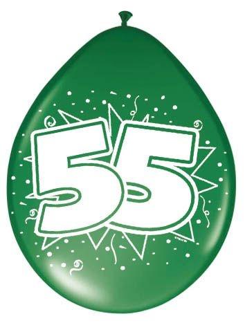 Amigo Ballonnen ster 30 cm: 55 jaar 8 stuks