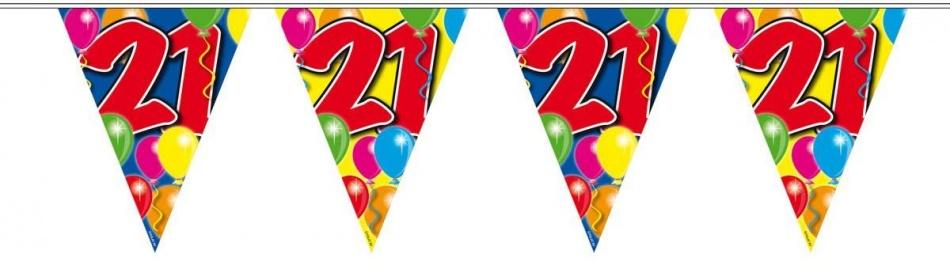 Vlaggenlijn balloons 5 jaar 10m-stk
