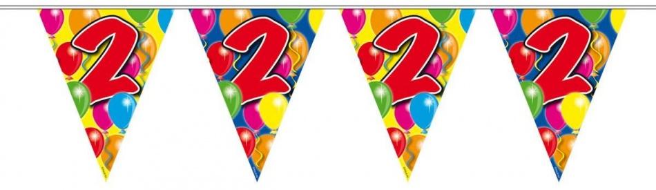 Vlaggenlijn balloons 2 jaar 10m-stk