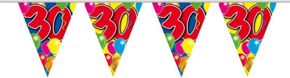 Amigo Vlaggenlijn ballonnen: 30 jaar 10 meter