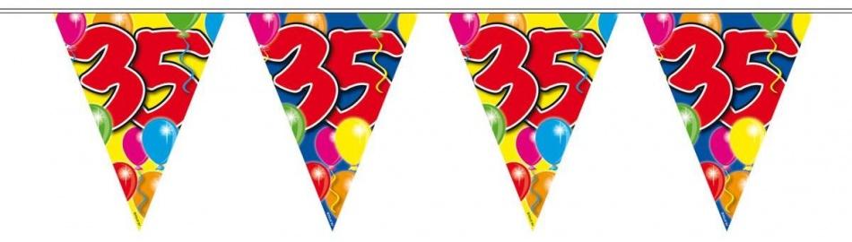 Amigo Vlaggenlijn ballonnen: 35 jaar 10 meter