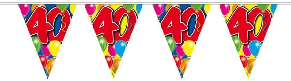 Vlaggenlijn balloons 40 jaar 10-stk