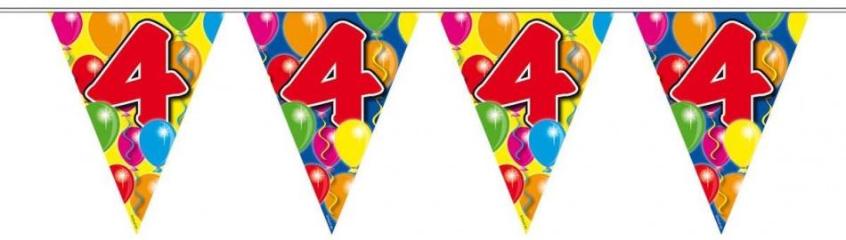 Amigo Vlaggenlijn ballonnen: 4 jaar 10 meter
