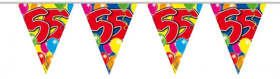 Amigo Vlaggenlijn ballonnen: 55 jaar 10 meter