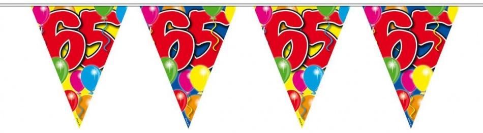 Amigo Vlaggenlijn ballonnen: 65 jaar 10 meter