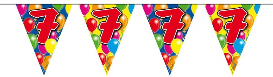 Vlaggenlijn balloons 7 jaar 10m-stk