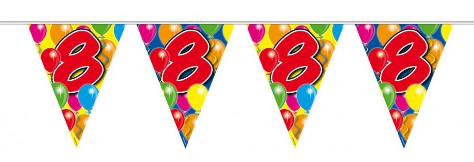 Vlaggenlijn balloons 8 jaar 10m-stk