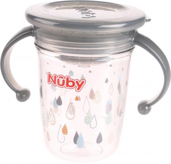 Nuby 360 wonderbeker 240 ml grijs