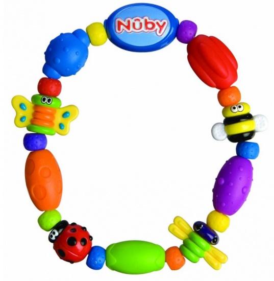 Nuby 3D bijtketting 13 cm multicolor