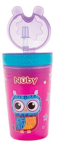 Nuby Drink & Snack Beker 270ml roze 24m+