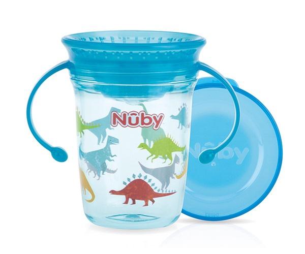 Nuby Wonder cup met handvatten in Tritan 240ml aqua 6m+