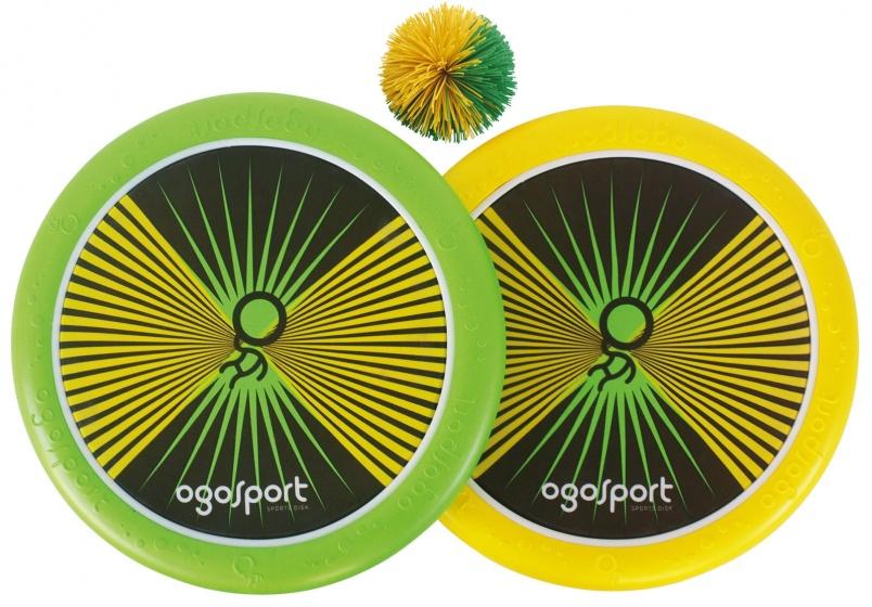 OgoSport vang en werpspel 29 cm geel/groen