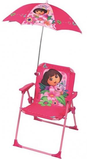 Outdoor Fun House Dora Stoel met Parasol meisjes roze/paars