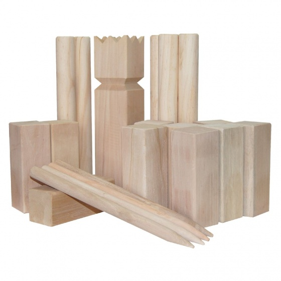 Outdoor Play Kubb XL werpspel hout 22 delig