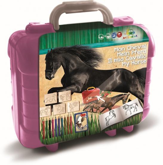 Paarden kleurset koffer 81 delig 19 x 11 mm