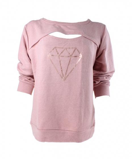 buy popular 2ed75 bd891 langarm-Pullover Damen rosa