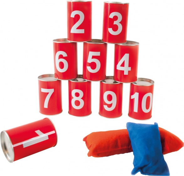 tin cans red 13-piece