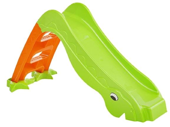 Paradiso Toys glijbaan draak junior 133 x 40 cm groen/oranje