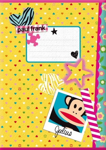 Paul Frank Schrift A4 Lijn Geel Hartjes