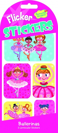 Peaceable kingdom flicker stickers ballerina 5 stuks 73969