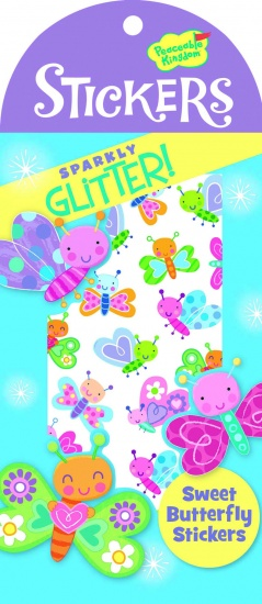 Peaceable Kingdom Glitter Stickers Vlinder 40 Stuks