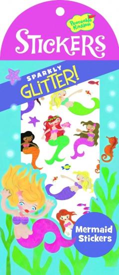 Peaceable Kingdom Glitter Stickers Zeemeermin 40 Stuks