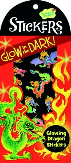 Peaceable Kingdom Glow in The Dark Stickers Draak 10 Stuks